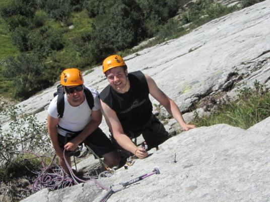 Rock climbing route - Vanoise Savoie