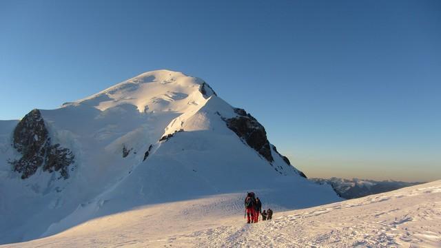 Le Mont Blanc avec les guides des Arcs
