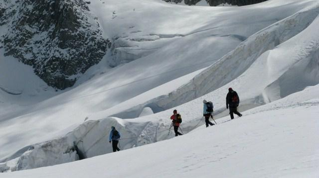 Tour du Mont Blanc par les glaciers - guides des Arcs