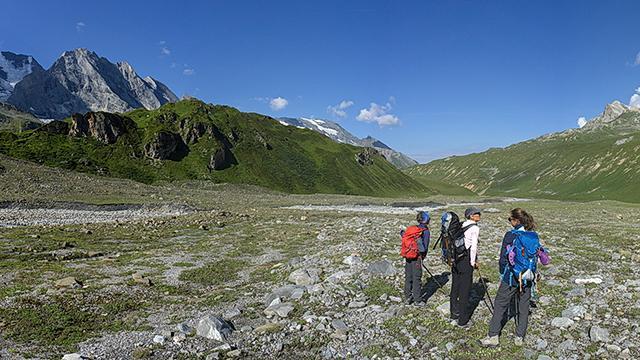 randonnée en Vanoise avec les accompagnateurs des Arcs