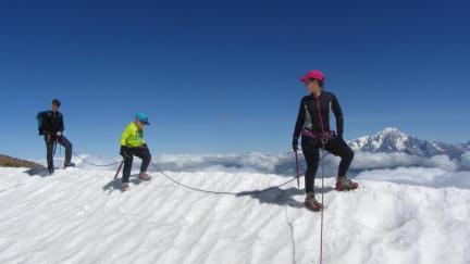 Randonnée sur glacier l'Aiguille Rouge 3226m