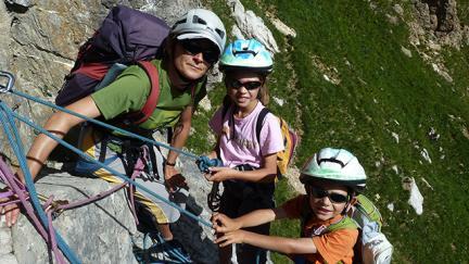 Escalade en famille avec les guides des Arcs Peisey Vallandry