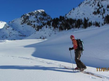ski de randonnée en vanoise montée au refuge du Ruitor