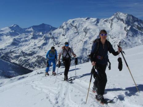 Montée à Foliette en ski de rando - Sainte Foy Tarentaise - Vanoise