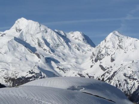 Le Mont Pourri 2eme sommet de la Vanoise vue de Saint Foy Tarentaise