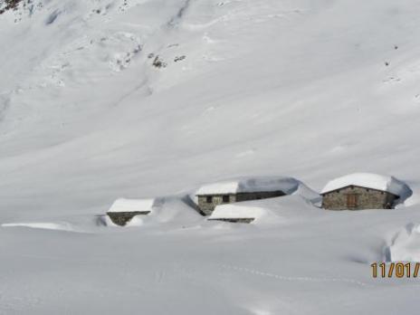 Chalets sous la neige La Savonne