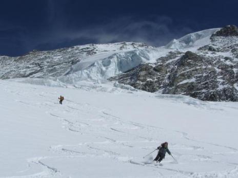 ski de randonnée en Vanoise - le glacier du Geay
