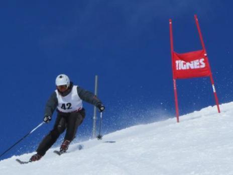 Gilles au départ 40ème championnat de ski UIAGM à Tignes