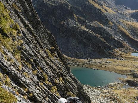 Le lac du retour en arrière plan.