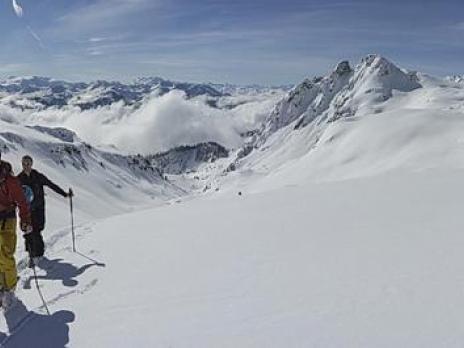 Dans le Vallon sous le col du mont Rosset.