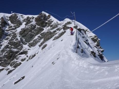 un accés montagne