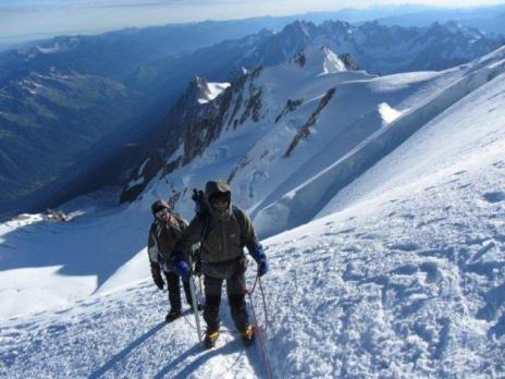 Arrivée au sommet du Mont Blanc