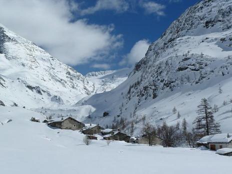 Le village d'Avérole en haute Maurienne.