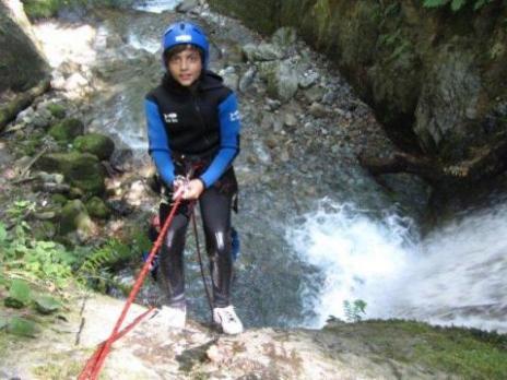 Canyoning descente en rappel - guides des Arcs