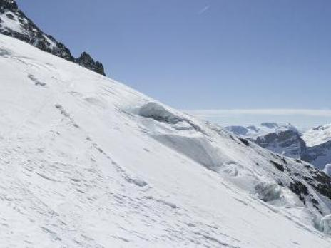 Sur le glacier du Geay