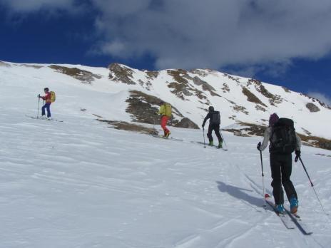 Ski de randonnée dans le Beaufortain - montée Croix de Bagnaz
