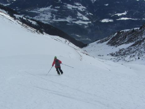 Ski de randonnée dans le Beaufortain - descente Croix de Bagnaz