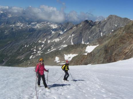 Dôme des Glaciers par le glacier des Glaciers