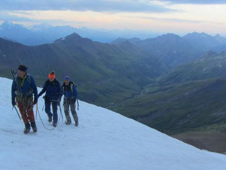 Dôme des Glacier par le glacier des Glaciers