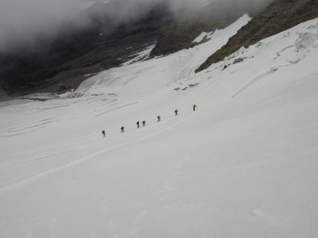En montant par la Glacier