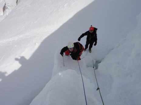 En montant au Mont Blanc
