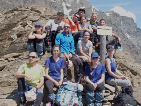 Le groupe au col de la Lauze avant la derniére descente
