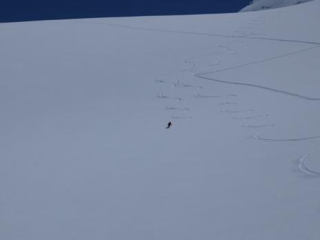 Neige de cinema sur le glacier