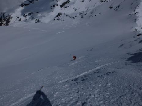Le debut de la descente