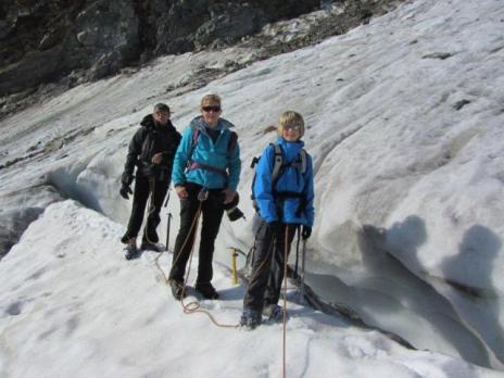 Alpinisme - 1er pas sur le glacier du Tondu