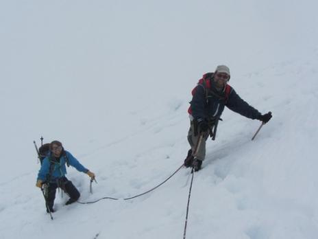 le glacier du Tondu massif du Mont Blanc