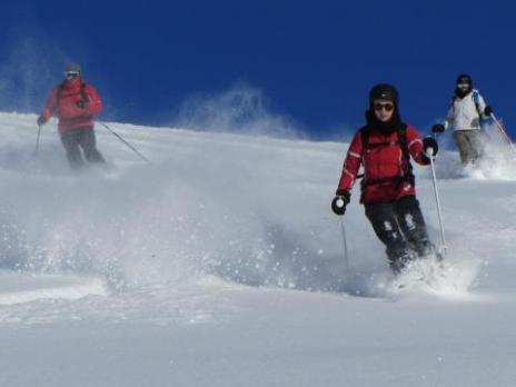 Ski hors-piste aux Arcs avec les guides des Arcs
