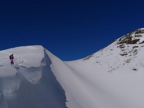Hors piste La Plagne - montée en ski de rando au Friolin