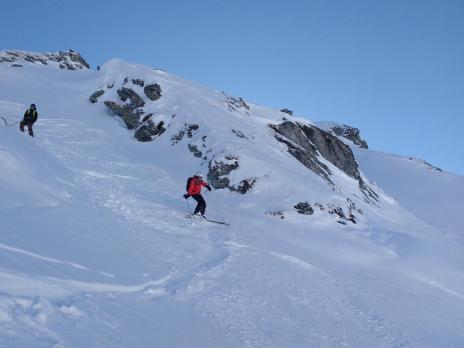 Les Arcs ski hors piste - la crete des lanchette