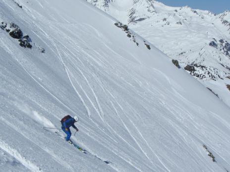 ski hors piste - les Arcs