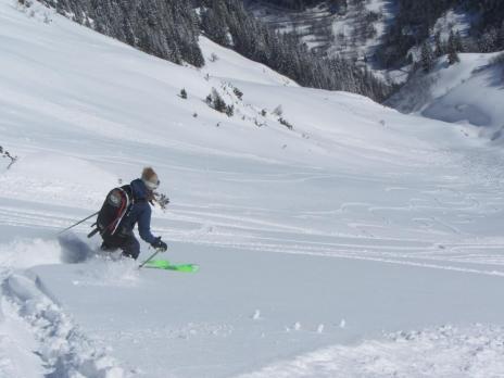 Ski hors piste aux Arcs