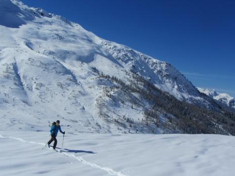 Ski de randonnée à Sainte Foy montée aux arêtes de Montséti