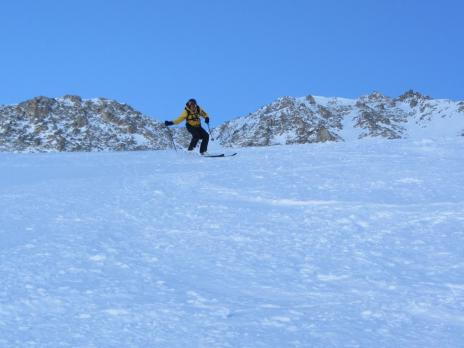 Hors piste Val d'Isère couloir des pisteurs
