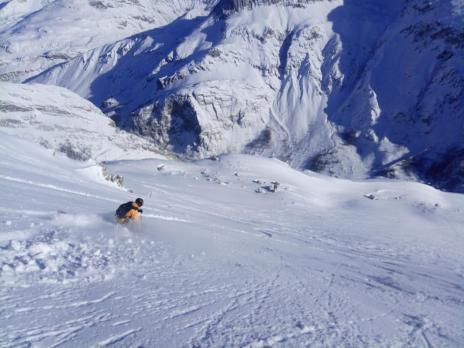 Ski hors piste à Val d'Isère - Couloir de la Table