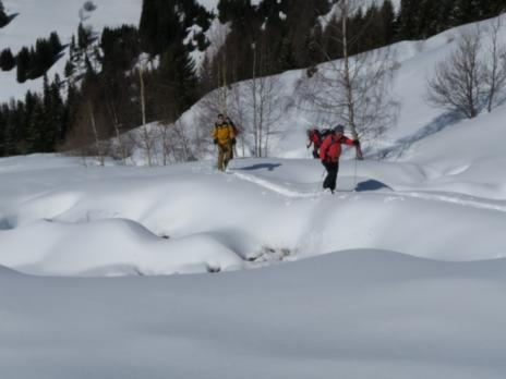 Randonnée à ski à Vaugel