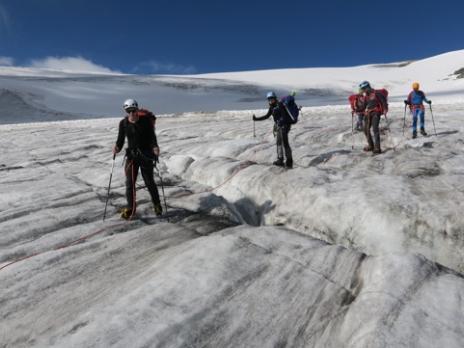 Sur le glacier du Dard