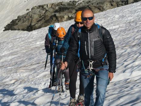 En approchant du sommet de la Galise