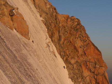 Une cordée au Mt Blanc du Tacul