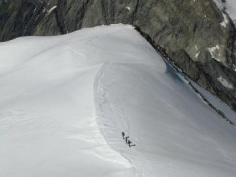Sous le dôme des Glaciers