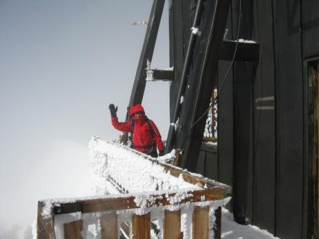 Le plus haut refuge des Alpes 4560 m