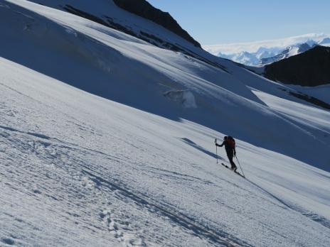 Montée au Dôme des Glaciers