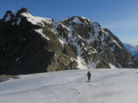 La montée au Mont Pourri