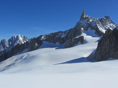 Vallée Blanche - la Dent du Geant - guides des Arcs