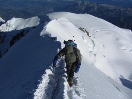 Mont Blanc l'arête des Bosses