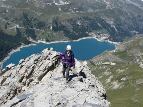 Alpinisme en Vanoise, escalade de l'Aiguille du Franchet