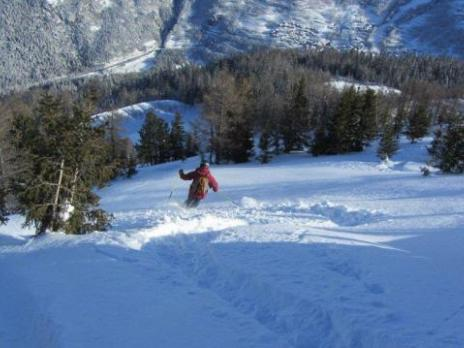 ski hors piste secteur Villaroger les Arcs